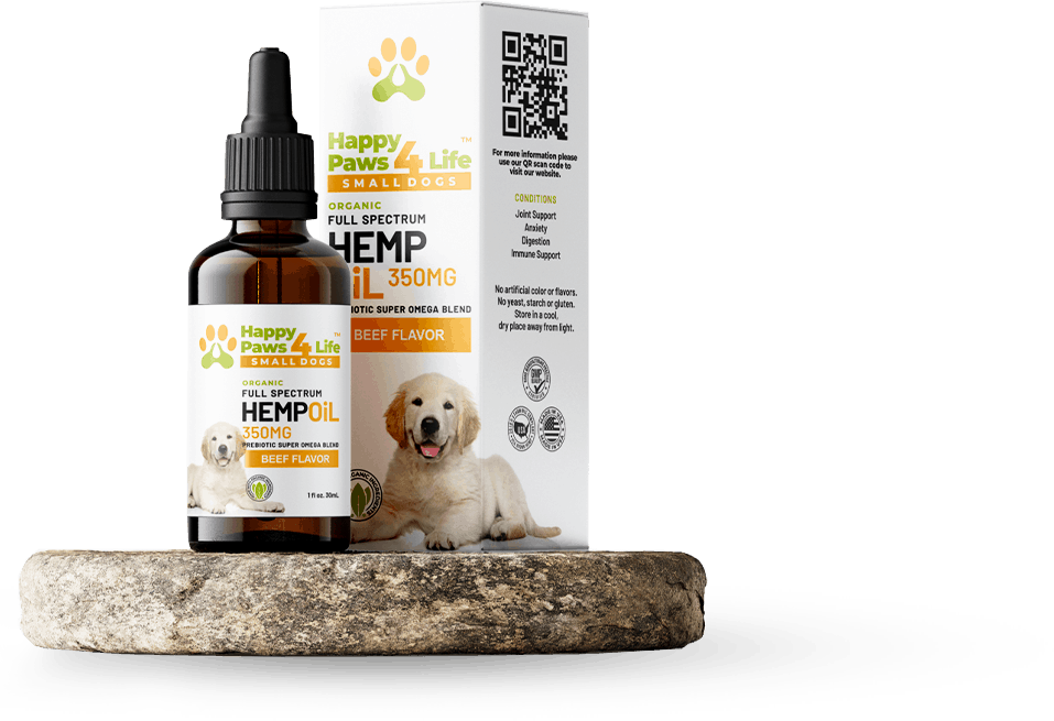 The Happy Paws 4 Life Full-Spectrum Hemp Oil (350MG) Product